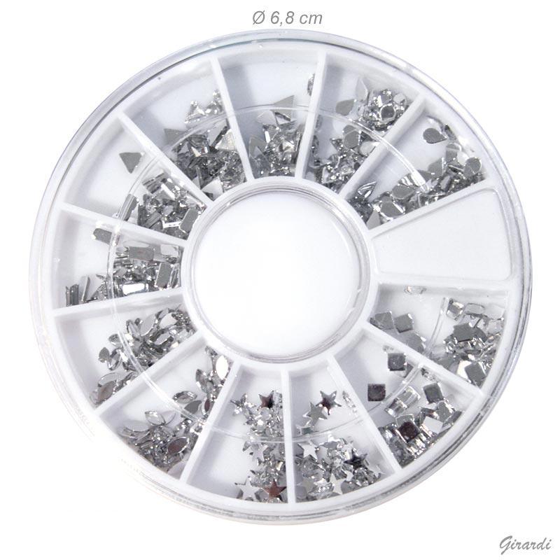 Nail Deco Strass Acrilici Forme Assortite - Bianco