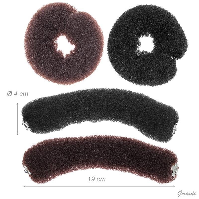Bumpits For Chignon/bun With Button