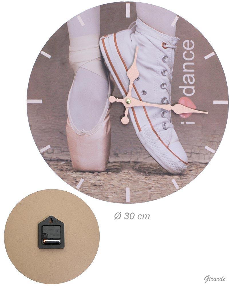 Orologio Da Muro Scarpa Tennis E Ballerina 30cm