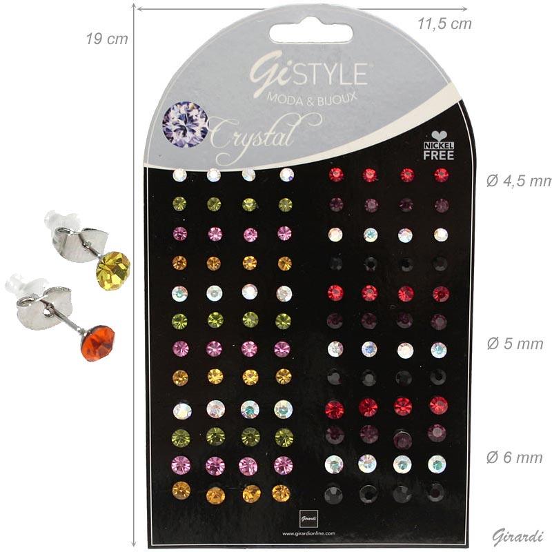 Orecchini Con Cristalli Colorati 48 Pa