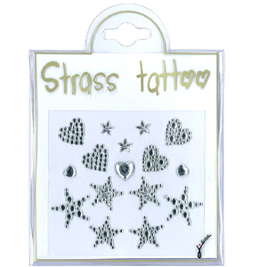 Nail Tattoo White Strass