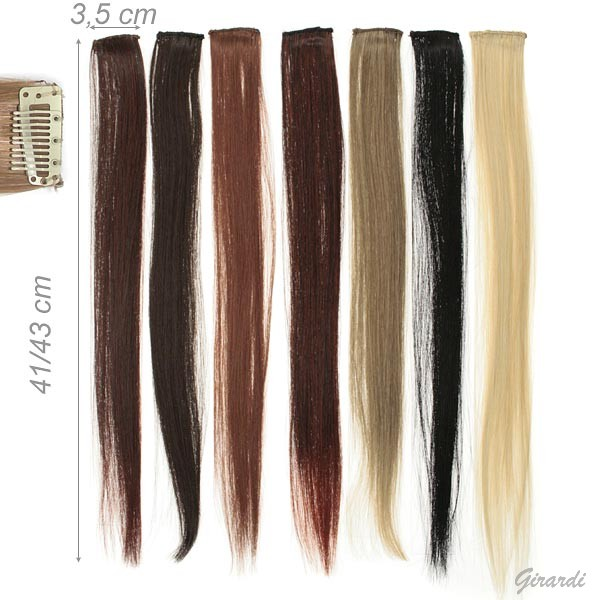 Hair Extension 1 Clip 41cm Natural Color Assorted Pack