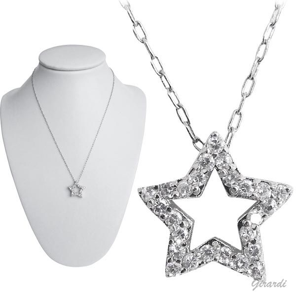 Zircon Star And Metal Necklace