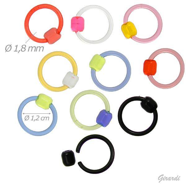 Piercing Ring In Acrilico Assortito