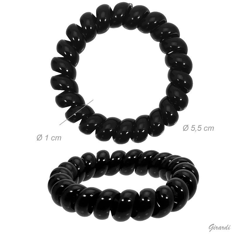 Elastico Fermacoda A Spirale Nero 5,5 Cm