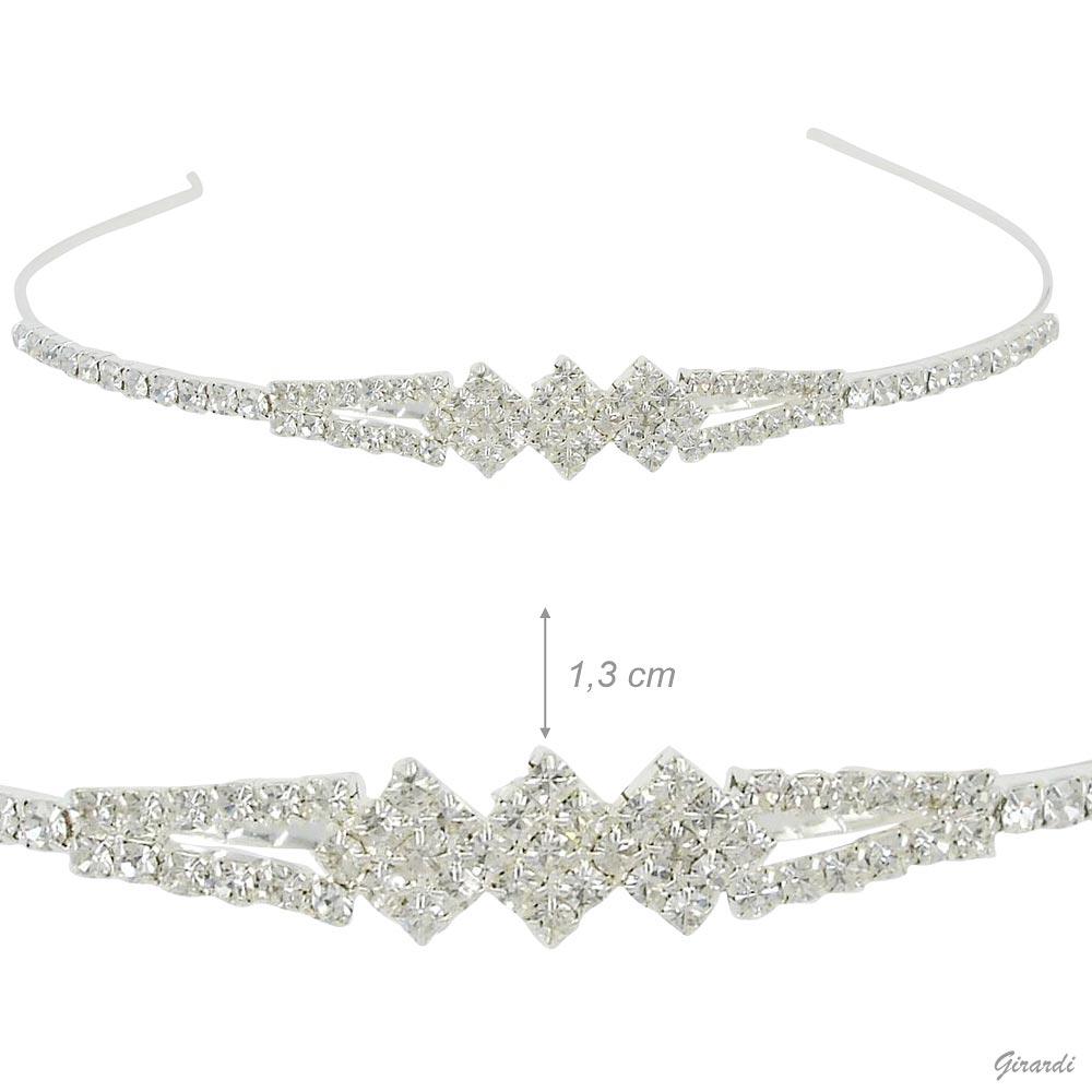 Bridal Metal Headband With Strass