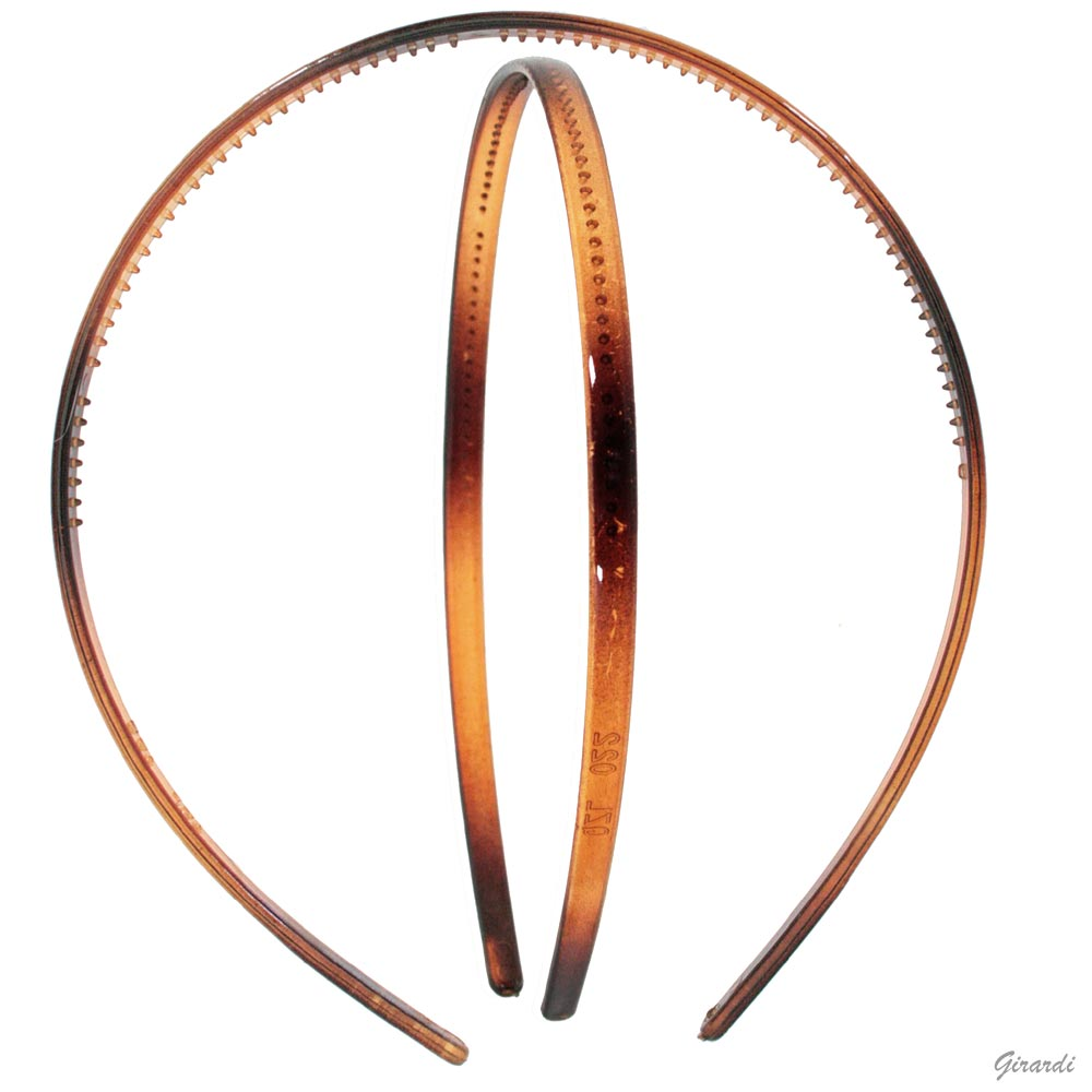 Tortoise-shell Acetate Headband 6,5 Mm With Teeth