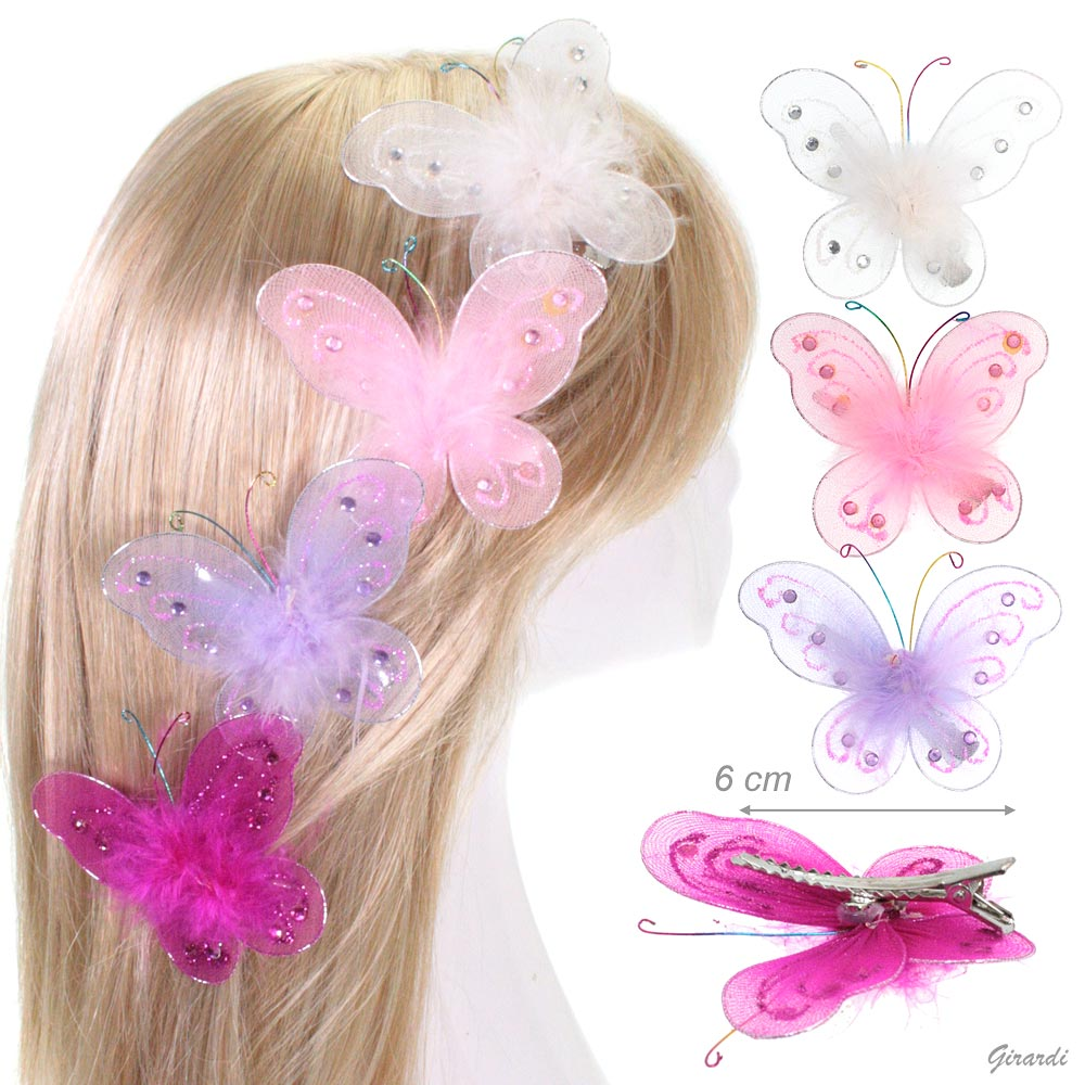 Butterfly And Feathers Beak Hair Clip