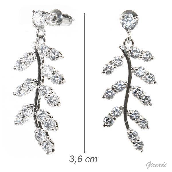 Metal Earrings Zirconia Pendant