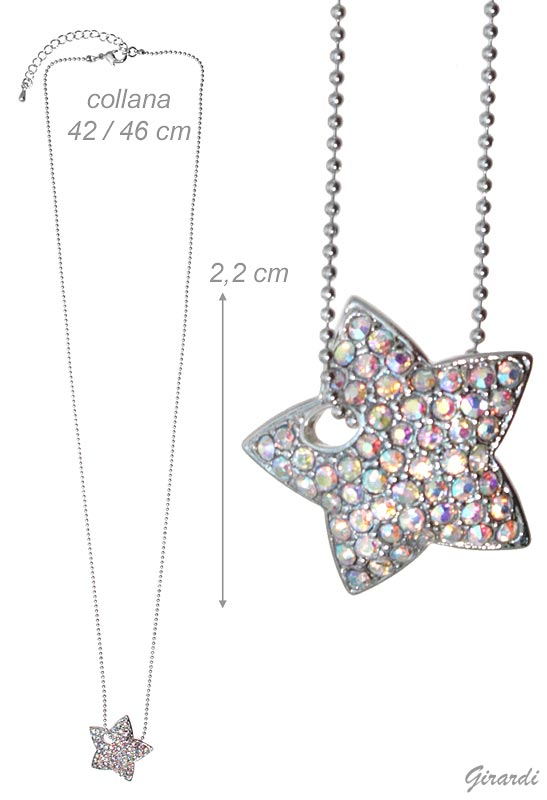 Necklace With Borealis Strass Star