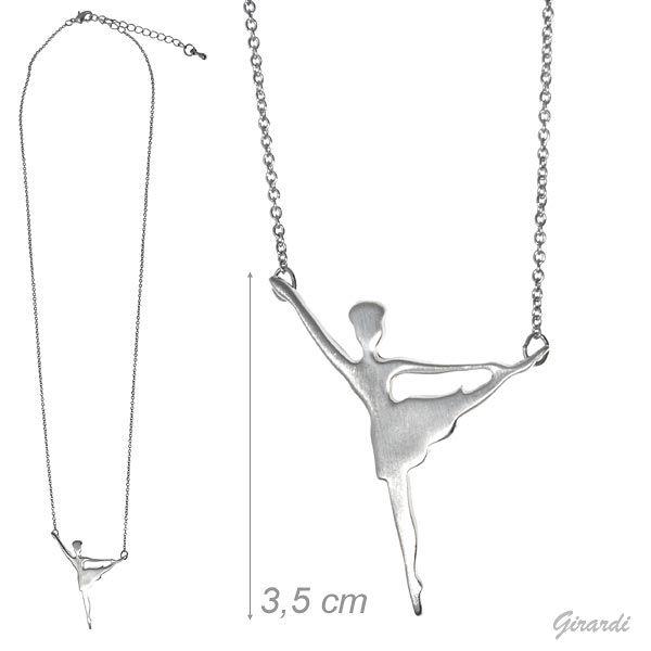 Ballerina Necklace In Satin Metal