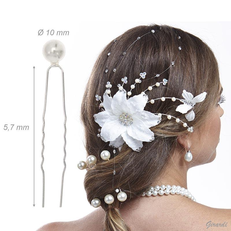 Bridal Hair Pins With Pearl 9,5 Mm