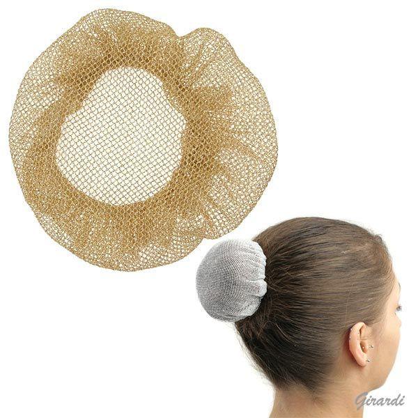 Golden Polyester Chignon/bun-cover Hairnet