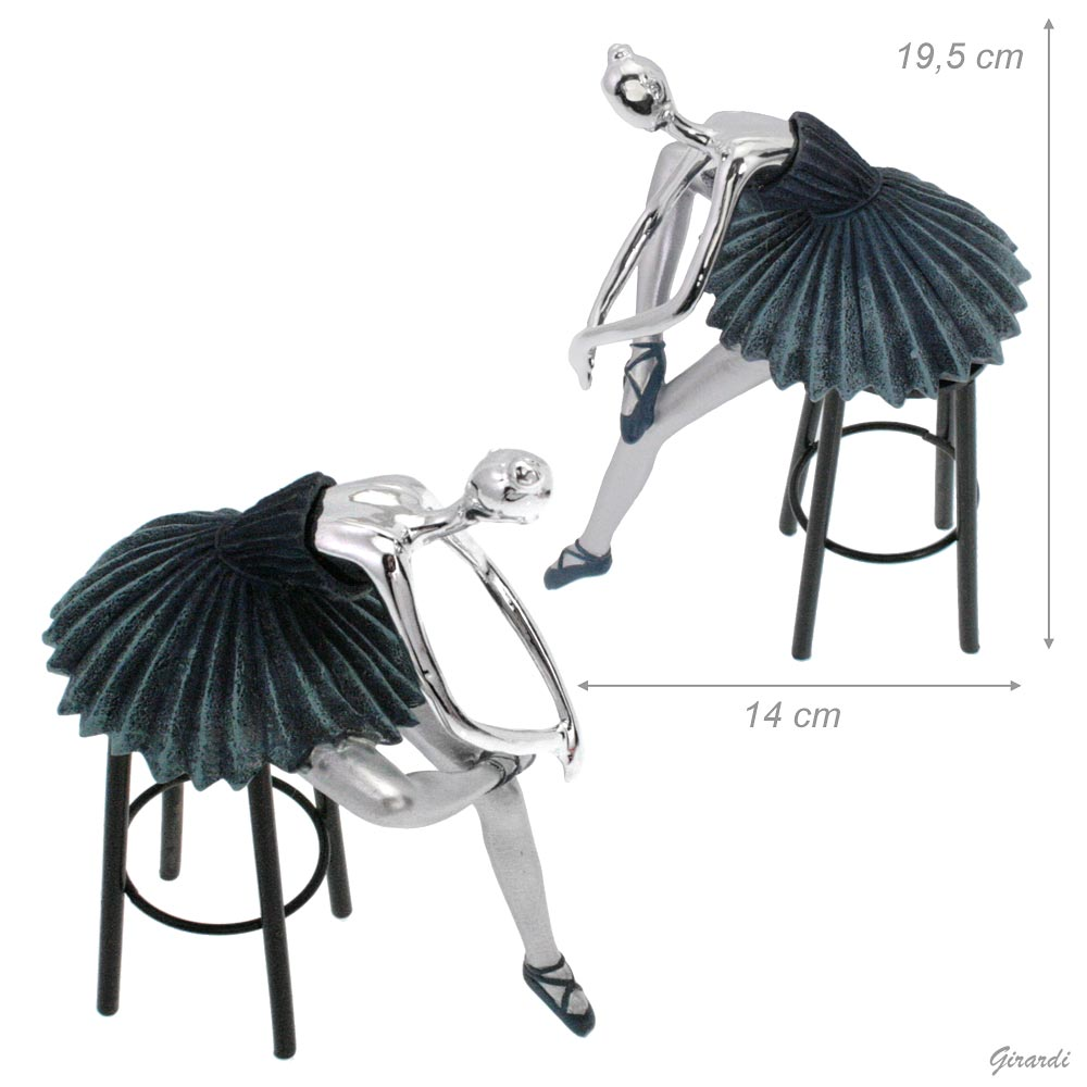 Ornament Of A Ballet Dancer On A Stool