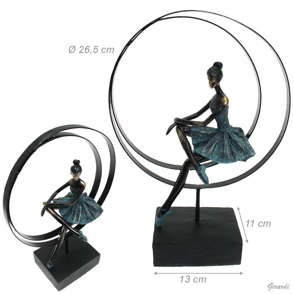 Statuetta Con Ballerina E Cerchio