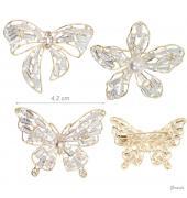 Spilla a Forma di Fiore O Farfalla con Cristalli