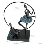 Statuette Soprammobile 2 Ballerine e Cerchio