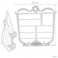 White Metal Display 20x20cm - Net Price