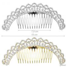 Long Decor Hair Comb With Strass 15cm