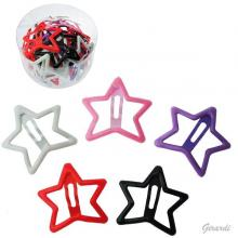 Metal Star Snap Hair Clips Assorted Colors