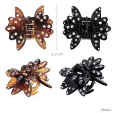 Hair Claw In Acetate With Strass 4,2cm