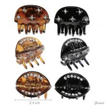 Acetate Hair Claw With Strass 2.4cm