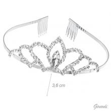 Bridal Tiara With White Rhinestones