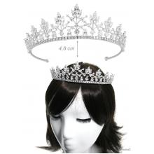 Metal Tiara With White Zirconia