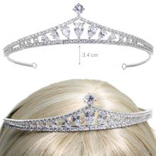 Tiara For Ceremony With Zirconia