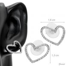 Earrings With Zirconia Heart