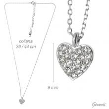Necklace With Heart Of Zirconia