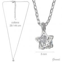 Necklace With Zircon Star Pendant