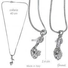 Necklace With Strass Shoe Pendant