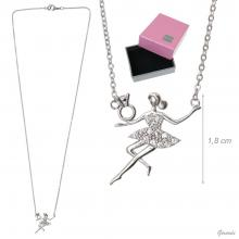 Necklace With Ballerina With Zircon