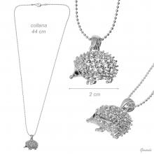 Necklace Hedgehog With Strass