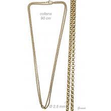 Collana Catenina In Acciaio Oro 90 Cm