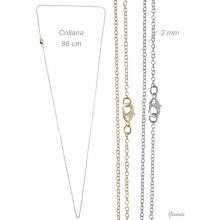 Steel Chain Long Necklace 86 Cm