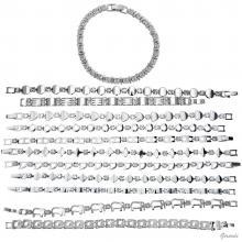 Bracciale Metallo Con Strass - Prezzo Netto