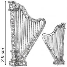 Brooch Harp And Strass