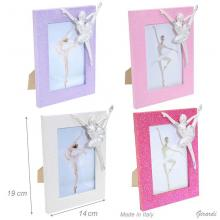 Wooden And Glitter Photo Frame With Ballerina