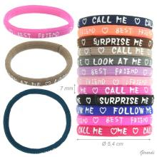 Hair Bobbles-bracelet With Assorted Message