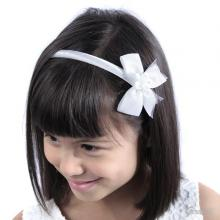 Headband  With Flower Bow And Beads