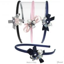 Headband With Pearl And Strass Bow