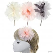 Headband With Tulle Bow