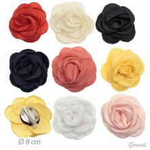 Crocodile Clip/pin With Assorted Colored Satin Flower