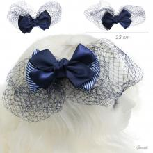 Hair Decoration With Double Bow And Veil