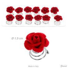 Decorazioni A Spirale Con Rosa Rossa