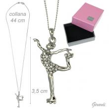 Necklace With Skater Pendant And Strass