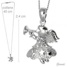 Necklace With Angel With Trumpet And Strass