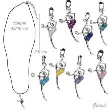 Rubber Necklace With Glitter Rhythmic Figure